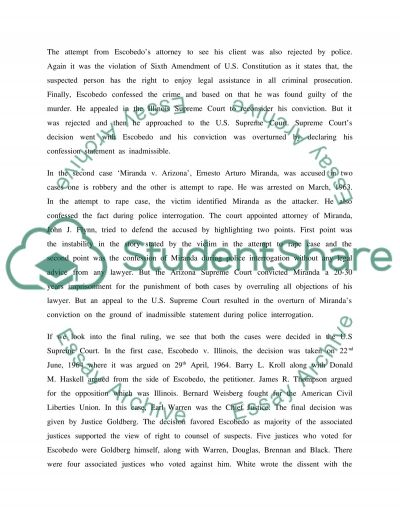 Requirements for Admissible Statements Analysis Case Study essay example