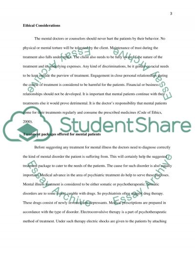 Essay on Mental Health essay example