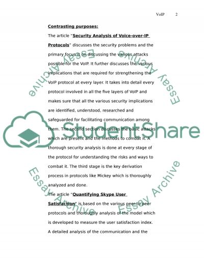 Evaluate research methodologies used in VoIP research essay example