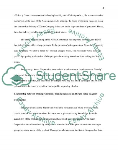 Brand Positioning essay example
