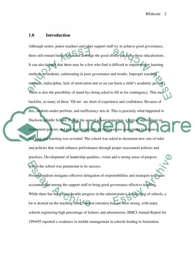 Reforming Education essay example