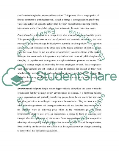Organisation and Management essay example