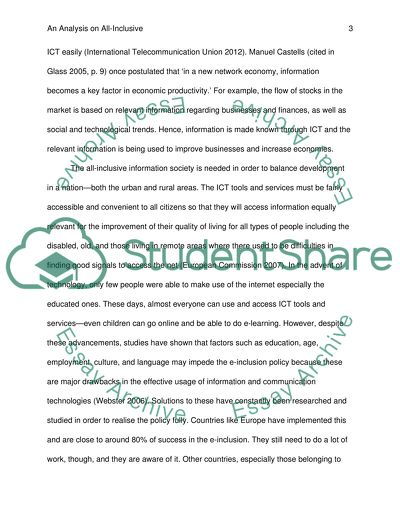 Information society essay