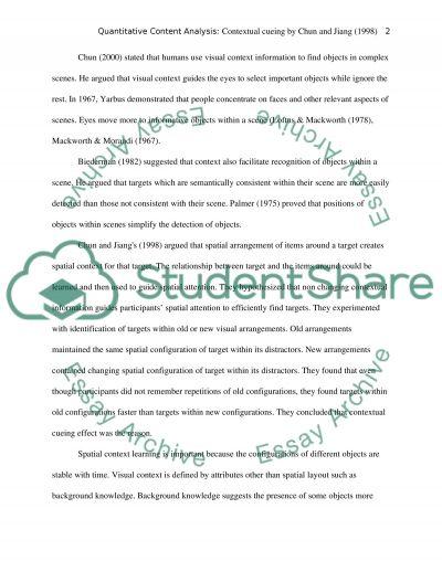 Quantitative Content Analysis essay example