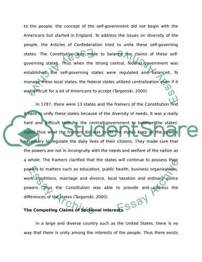 us constitution vs articles confederation essay