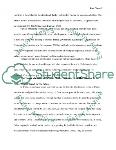 The Tourism Industry, in Dubai and Turkey essay example