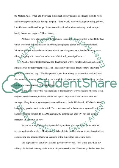 Executive toy essay example