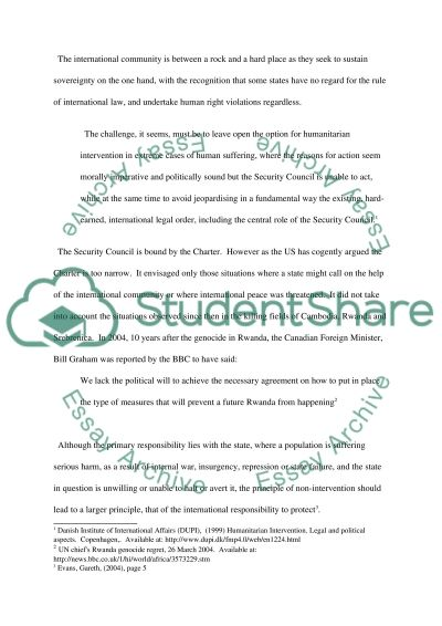 International Law and Institutions Essay example