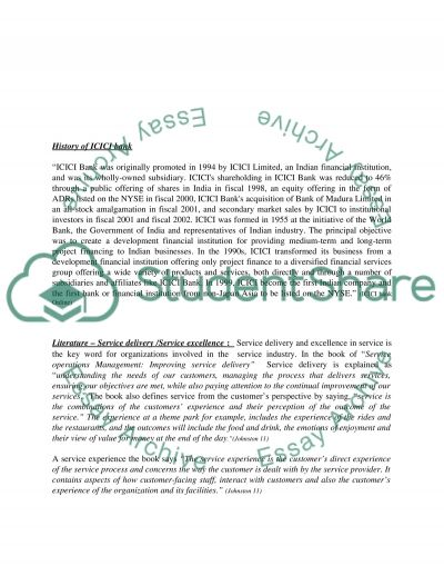 Services Management essay example