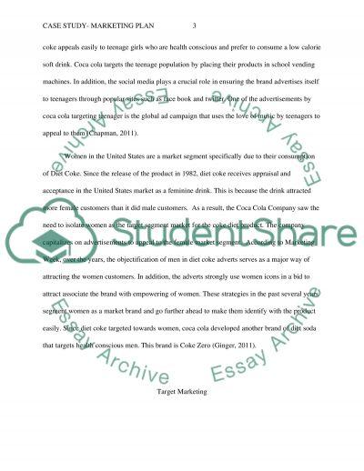 Case study- Marketing Plan essay example