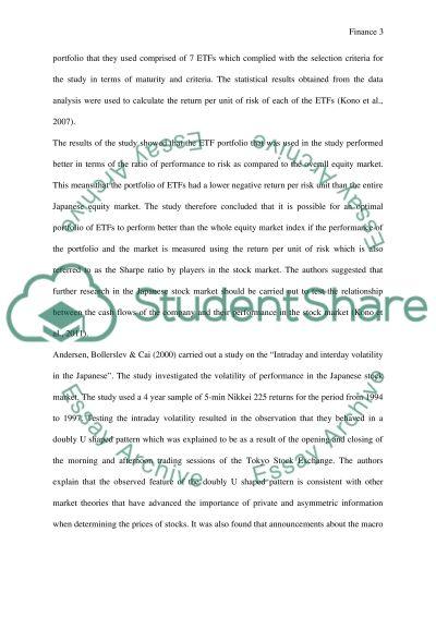 Finance essay example