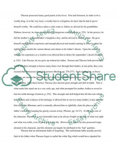 Mythology Essay No. 2 essay example