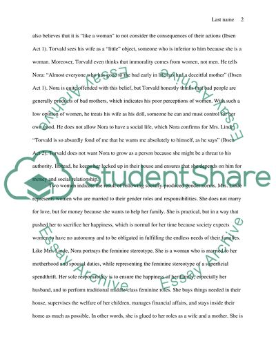 Science Essay Marriage As Entrapment For Men And Women In Ibsens A Dolls House Writing A High School Essay also Good High School Essay Examples Marriage As Entrapment For Men And Women In Ibsens A Dolls House Essay How To Write A Thesis Essay