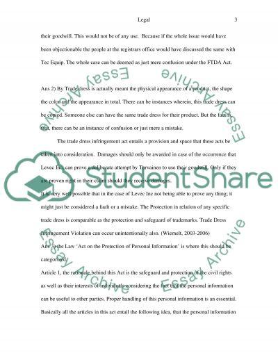 Legal Questions essay example