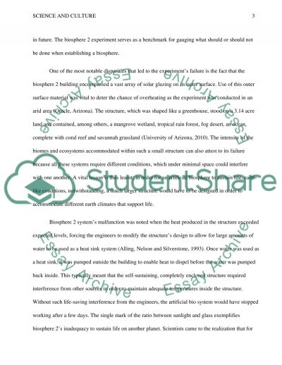 Science and Culture Essay