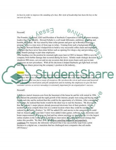 Identify a strategic leader essay example