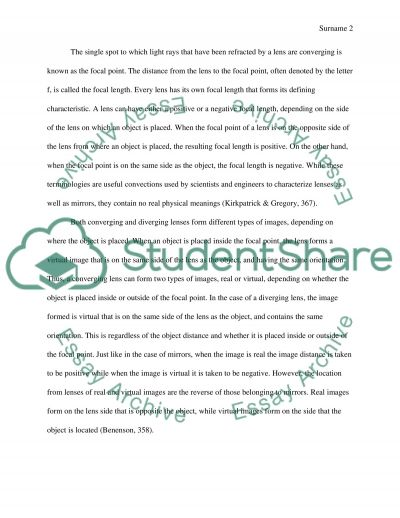 Lenses Research Paper essay example