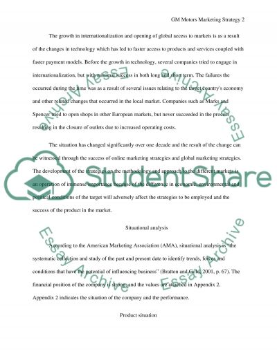 Strategic Marketing essay example