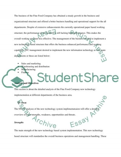 Information system essay example
