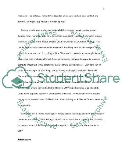 Starbucks essay example