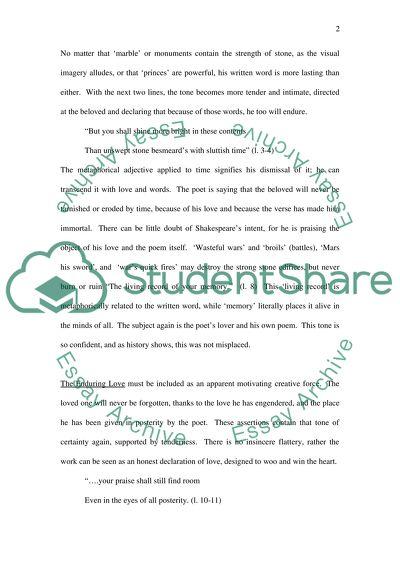 Shakespeares Sonnet 55