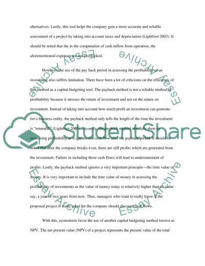 Business Finance Essay essay example