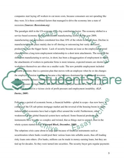 Global Financial Crisis essay example