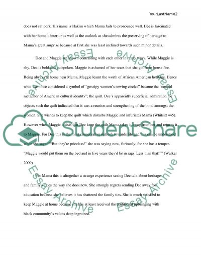 Everyday Use By Alice Walker Research Paper Example Topics And
