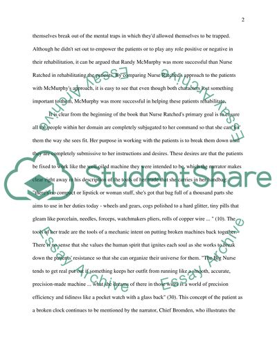 Essays In Science One Flew Over The Cuckoos Nest How To Make A Thesis Statement For An Essay also The Thesis Statement Of An Essay Must Be One Flew Over The Cuckoos Nest Essay Example  Topics And Well  Critical Analysis Essay Example Paper