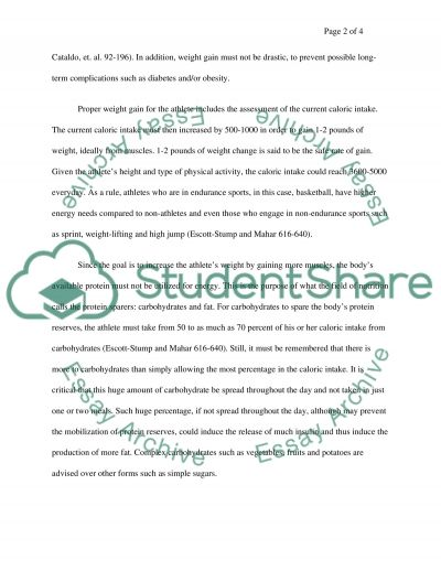 Nutritional Advice essay example