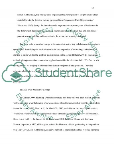 Innovative Change Paper essay example