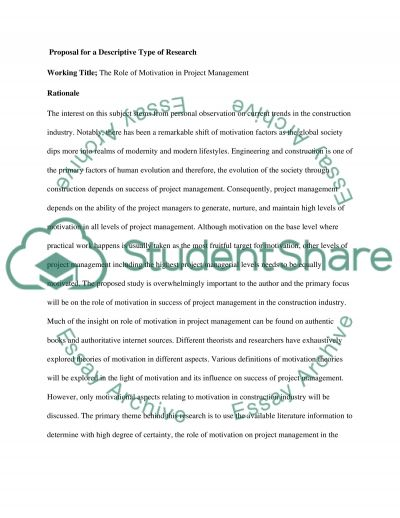 The Role of Motivation in Project Management essay example