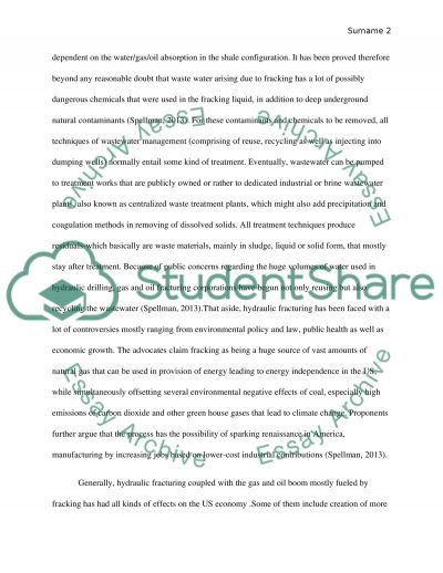 fracking essay essay Fracking is a controversial subject right now some environmentalists believe that fracking is detrimental for the environment, although some people believe that fracking is a necessity for the future of fuel.