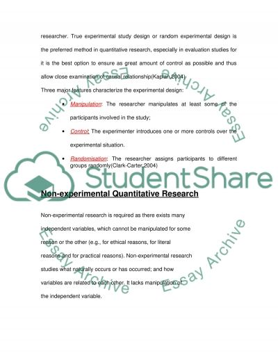 Coursework of Qualitative and Ouantitative Research essay example