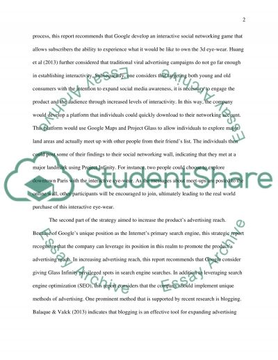 E-marketing Business Plan for GlassInfinity essay example