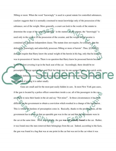 Guns law essay example