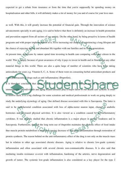 AntiAging Medicine essay example