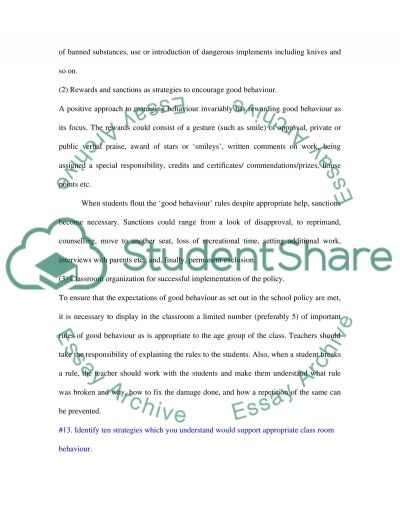 3 policies which promote positive pupil behaviour essay example