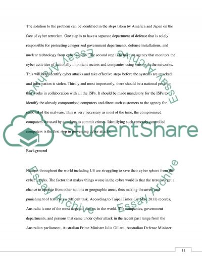 Cyber Security Threat Posed by a Terrorist Group essay example