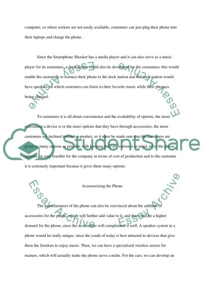 Marketing report essay example