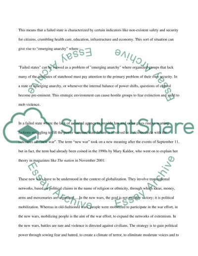 Nation State essay example