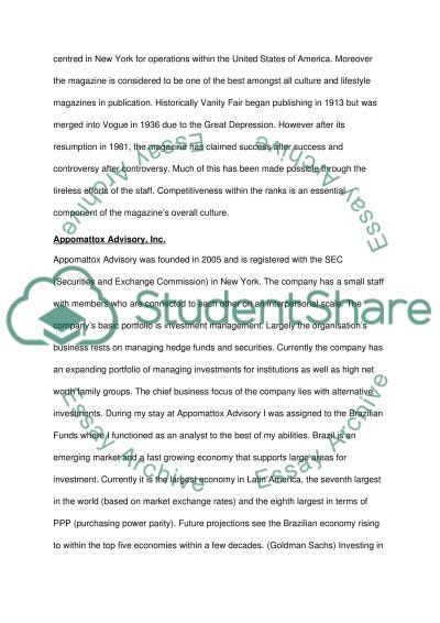 internship review vanity fair versus appomattox advisory essay related essays
