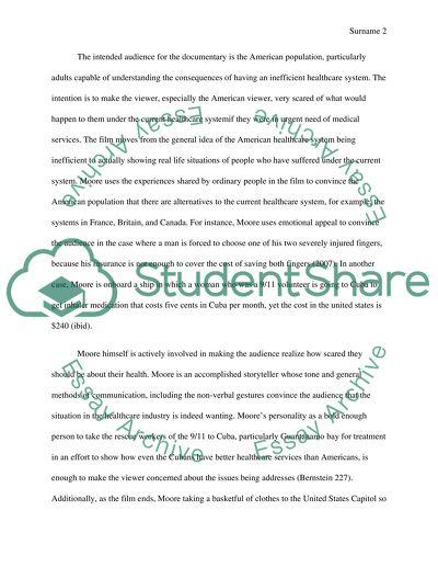 Sicko essay