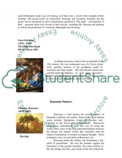 Difference between Romantic and Modern Painting  Essay example