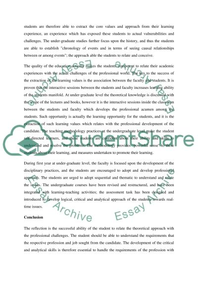 The reflection as successful ability of the students