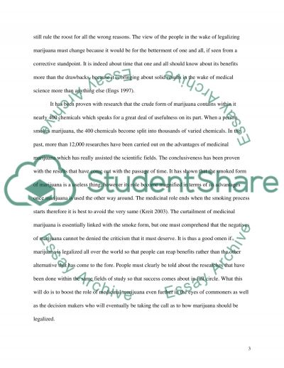 Should Marijuana be Legalized essay example