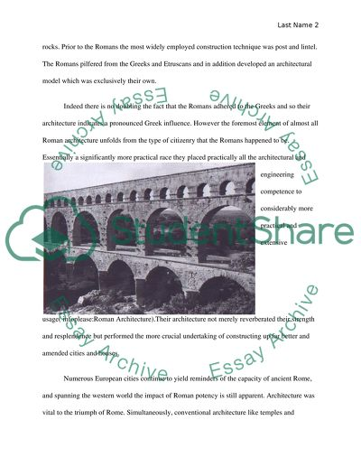 ChooseaHistoricalPeriod Architecture (Imperial Rome:Renaissance ) and comparetheperiodtoanotherHistoricalPeriod Architecture( classical Greece)