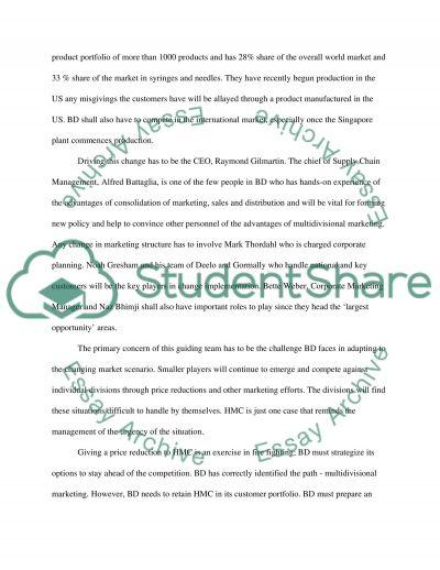 Becton Dickinsonproposal essay example