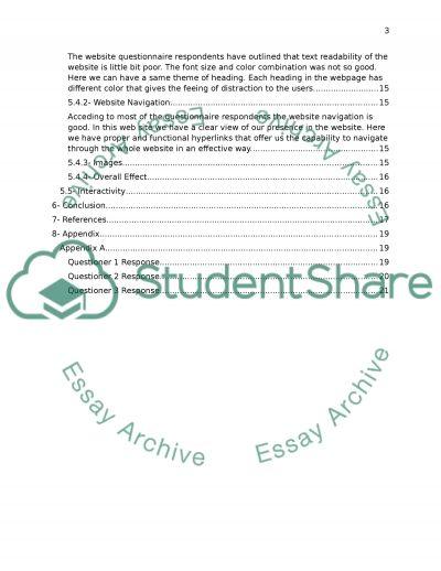 Website evaluation for a destination essay example
