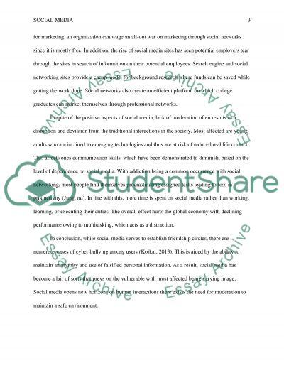 Social media essay essay example